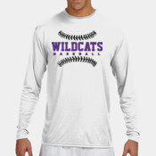 WildcatsBB - N3165 A4 Long-Sleeve Cooling Performance Crew Neck T-Shirt