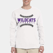 WildcatsBB -  4930 Fruit of the Loom Adult 5oz. 100% Heavy Cotton HD™ Long-Sleeve T-Shirt