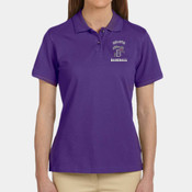 EMB - M200W Harriton Ladies' 6 oz. Ringspun Cotton Piqué Short-Sleeve Polo